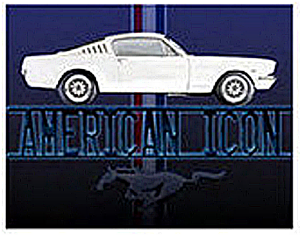 Ford Mustang American Icon steel sign (st)